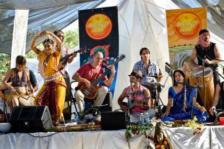 Ecoartopia decorated the main stage at the 2010 Bhakti Fest in Joshua Tree, CA. It was a long, hot summer up and down the West Coast.